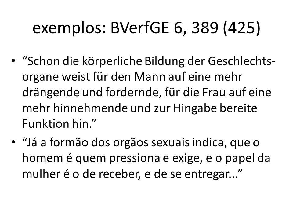 exemplos: BVerfGE 6, 389 (425)