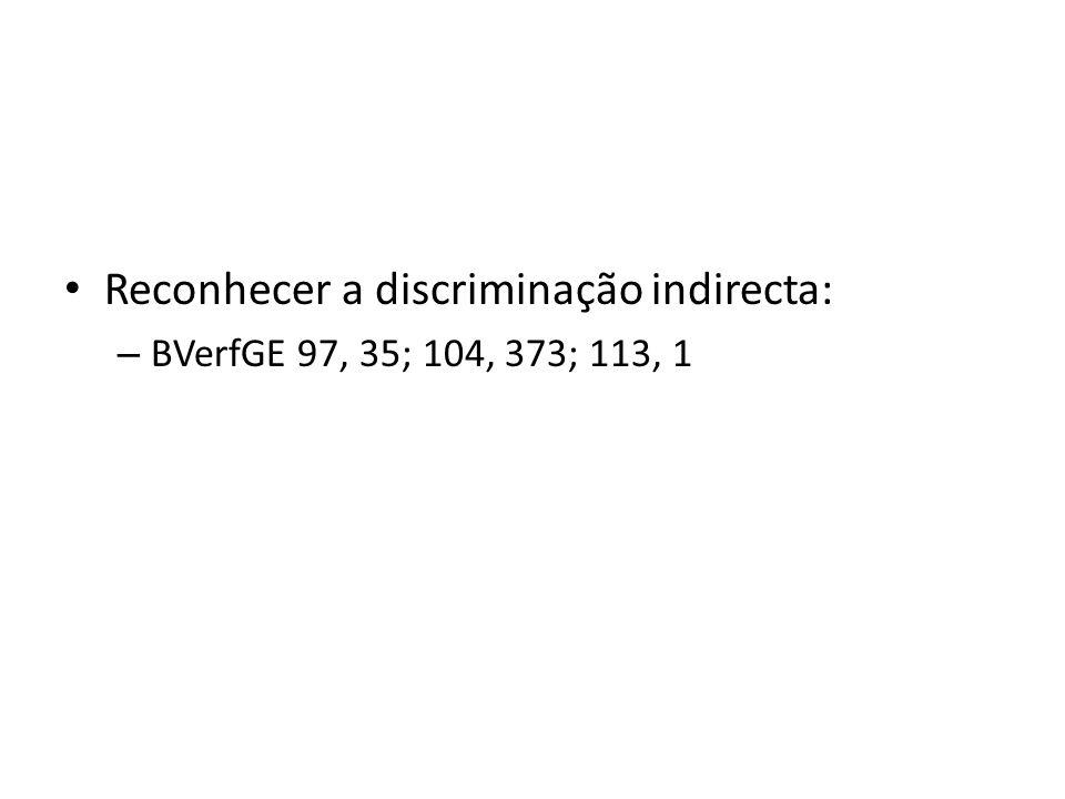 Reconhecer a discriminação indirecta: