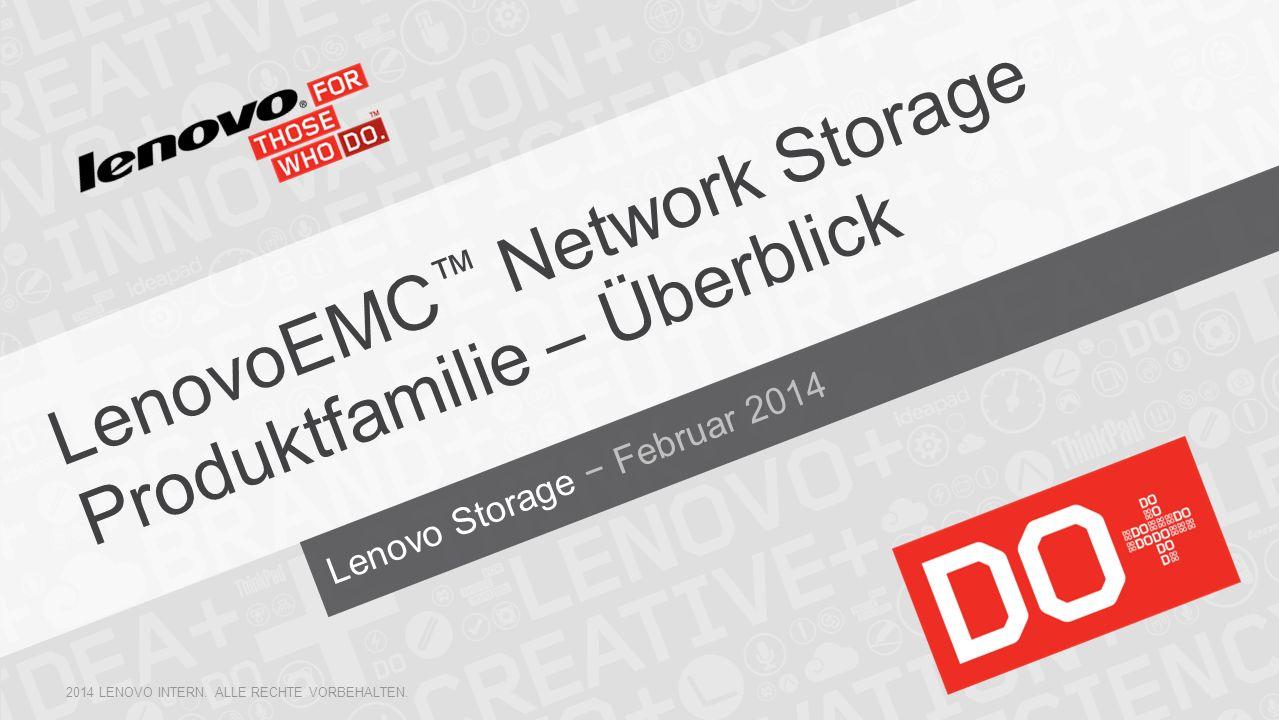 LenovoEMC™ Network Storage Produktfamilie – Überblick
