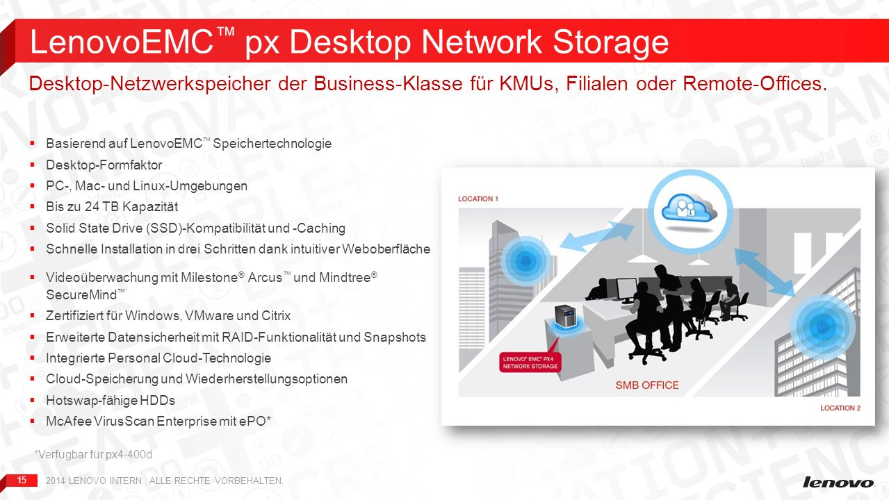 LenovoEMC™ px Desktop Network Storage