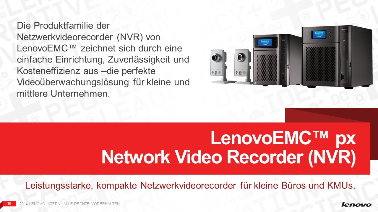 LenovoEMC™ px Network Video Recorder (NVR)