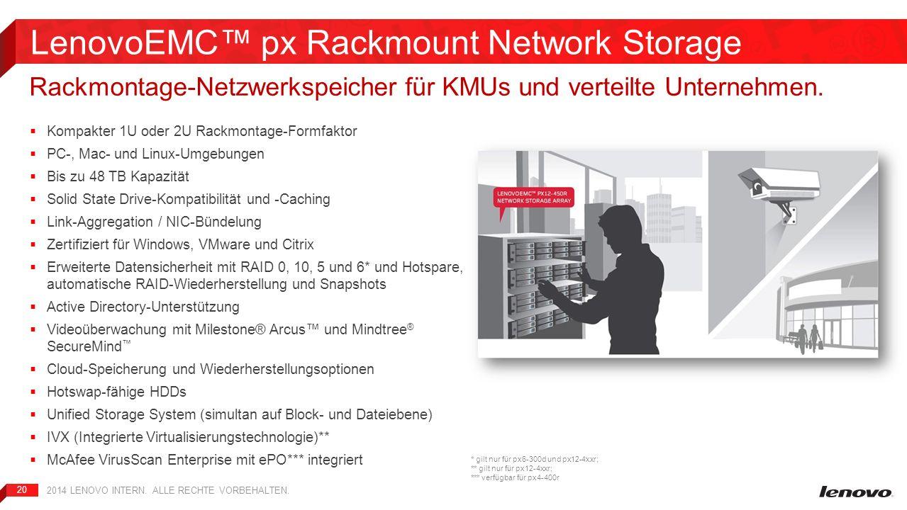 LenovoEMC™ px Rackmount Network Storage