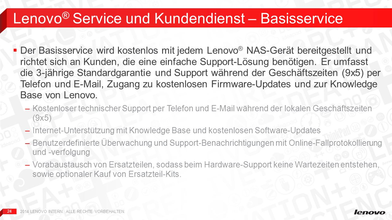Lenovo® Service und Kundendienst – Basisservice