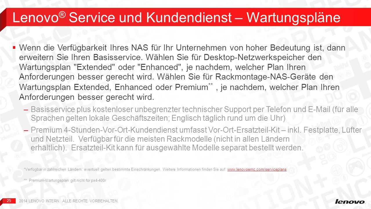 Lenovo® Service und Kundendienst – Wartungspläne