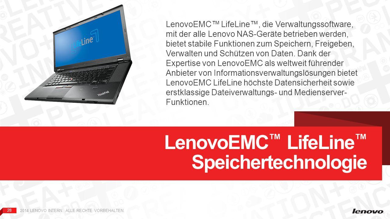 LenovoEMC™ LifeLine™ Speichertechnologie