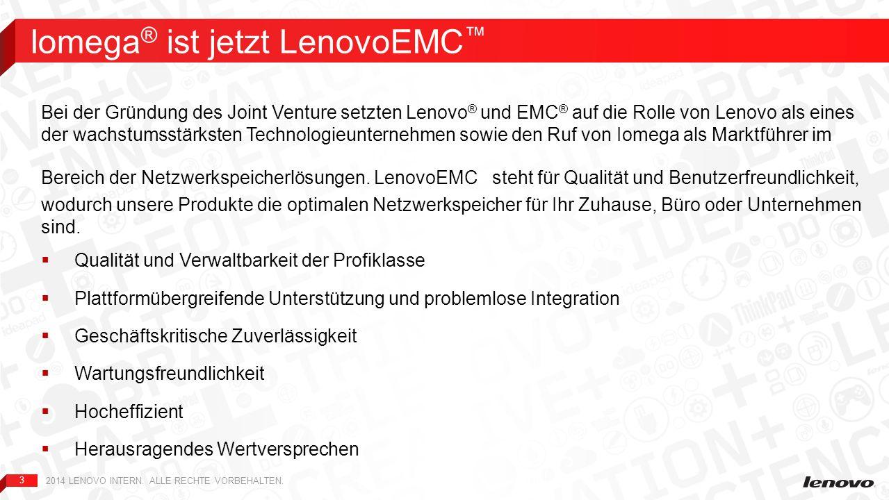 Iomega® ist jetzt LenovoEMC™
