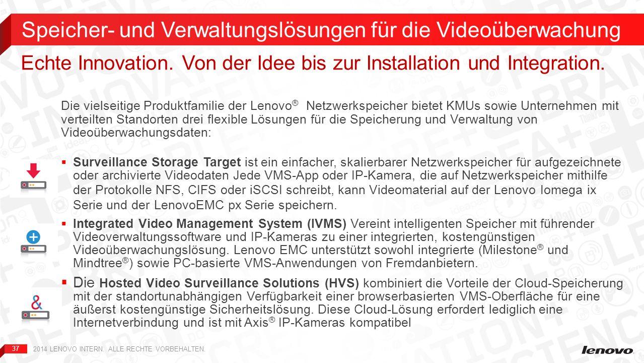 Speicher- und Verwaltungslösungen für die Videoüberwachung