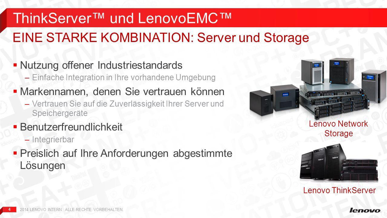 ThinkServer™ und LenovoEMC™