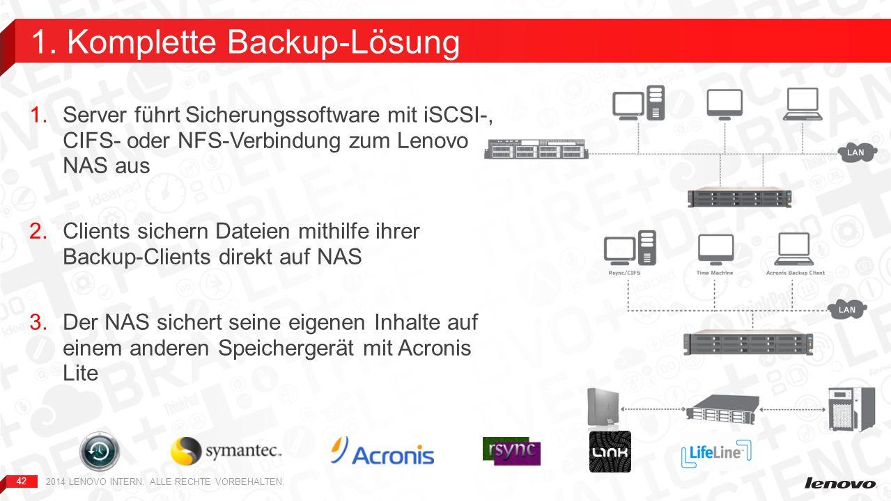 1. Komplette Backup-Lösung