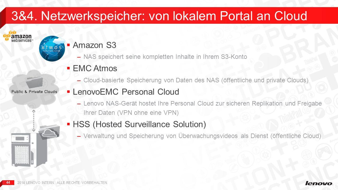 3&4. Netzwerkspeicher: von lokalem Portal an Cloud