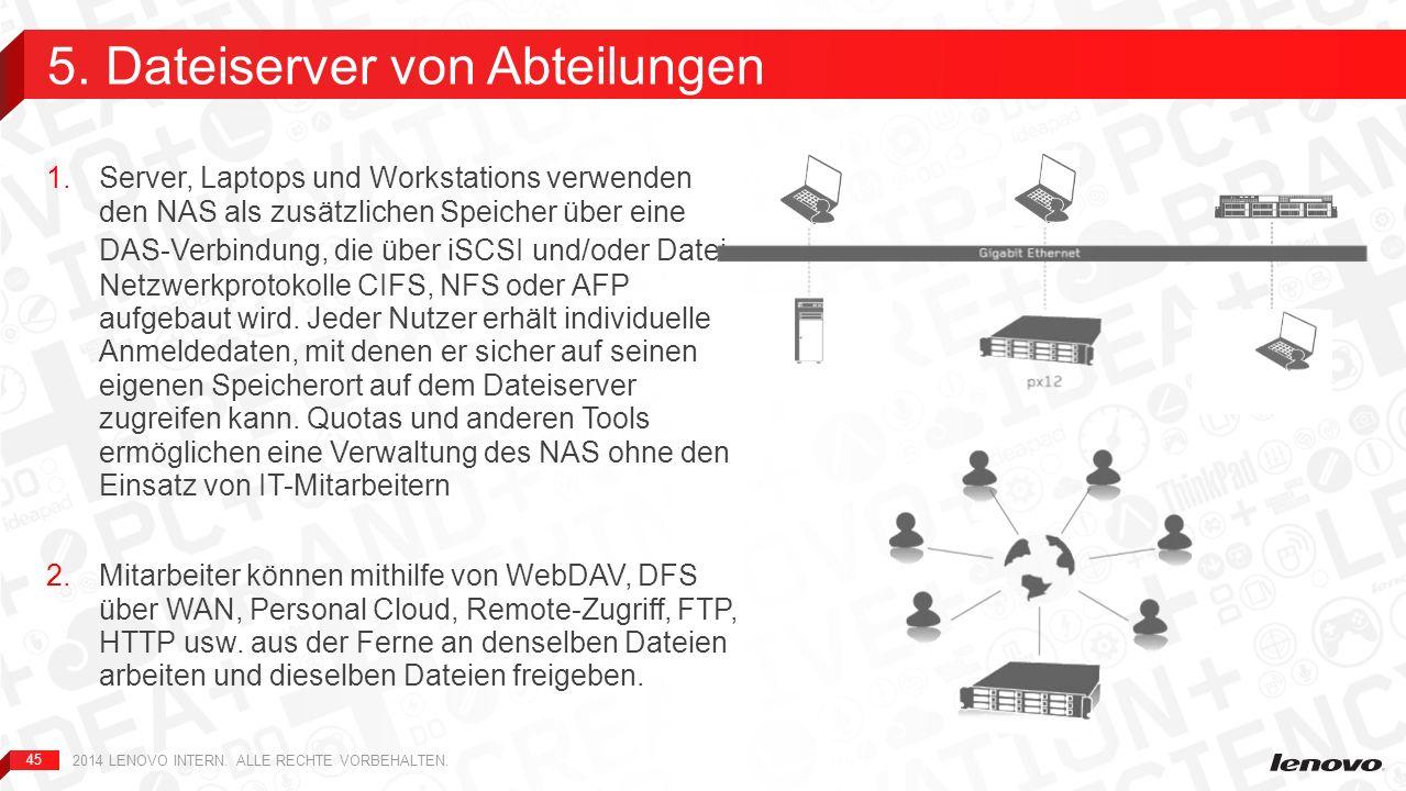 5. Dateiserver von Abteilungen