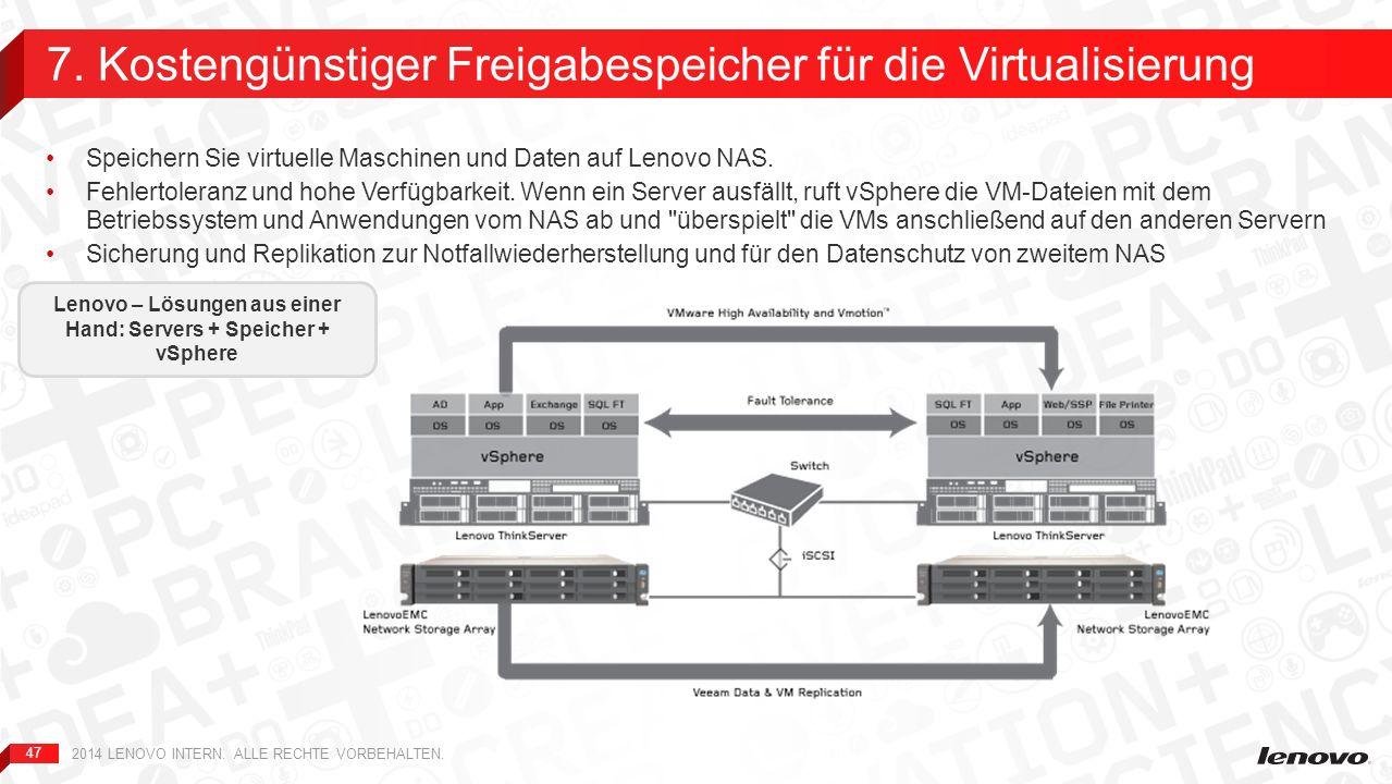 7. Kostengünstiger Freigabespeicher für die Virtualisierung