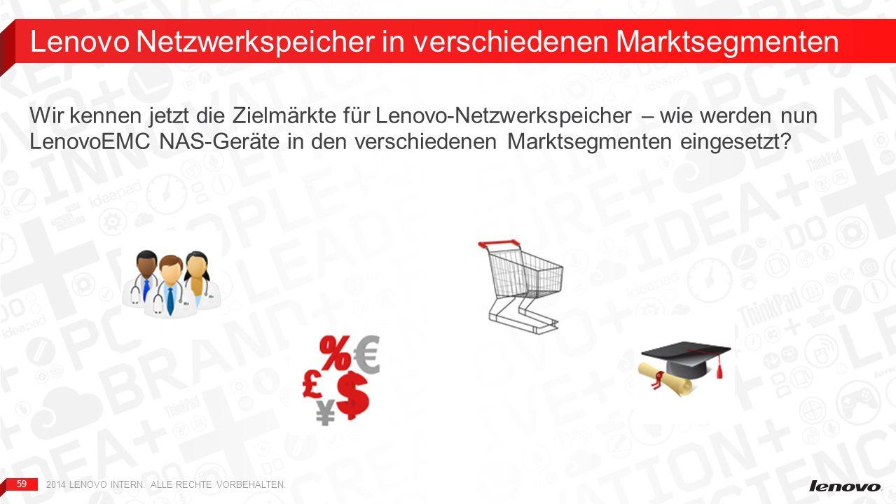 Lenovo Netzwerkspeicher in verschiedenen Marktsegmenten