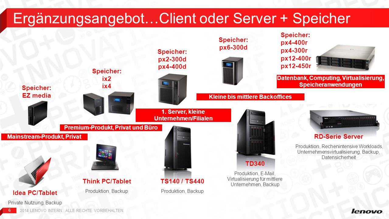 Ergänzungsangebot…Client oder Server + Speicher