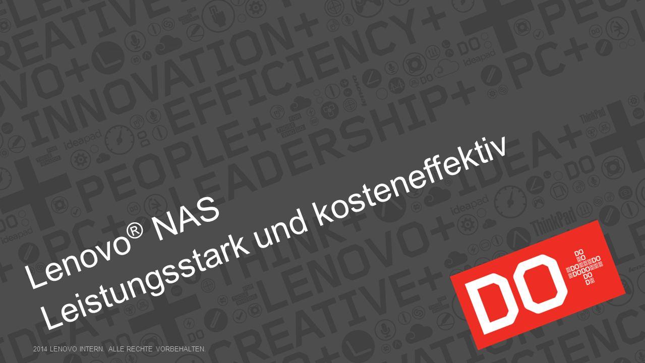 Lenovo® NAS Leistungsstark und kosteneffektiv