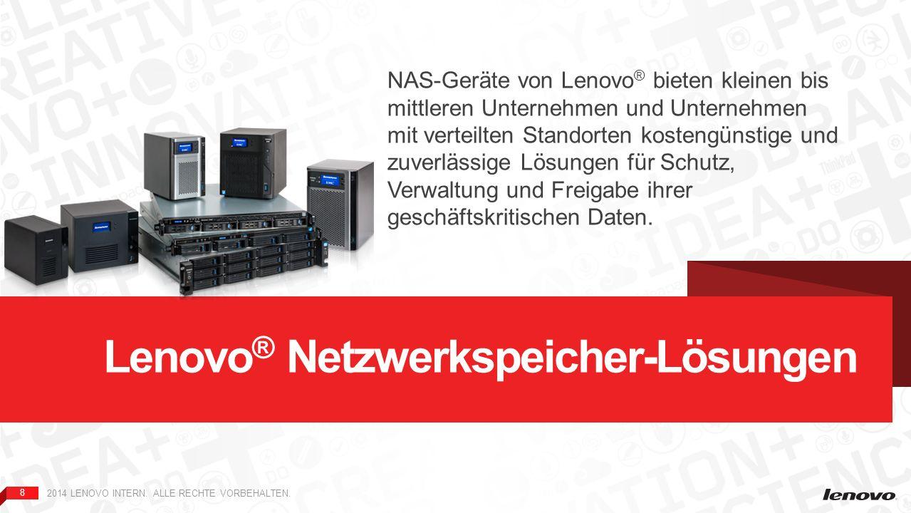 Lenovo® Netzwerkspeicher-Lösungen