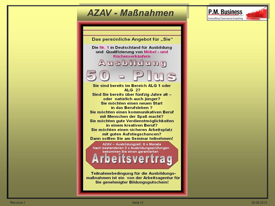 AZAV - Maßnahmen