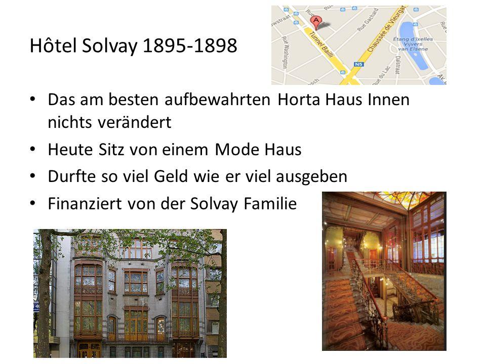 Hôtel Solvay 1895-1898 Das am besten aufbewahrten Horta Haus Innen nichts verändert. Heute Sitz von einem Mode Haus.