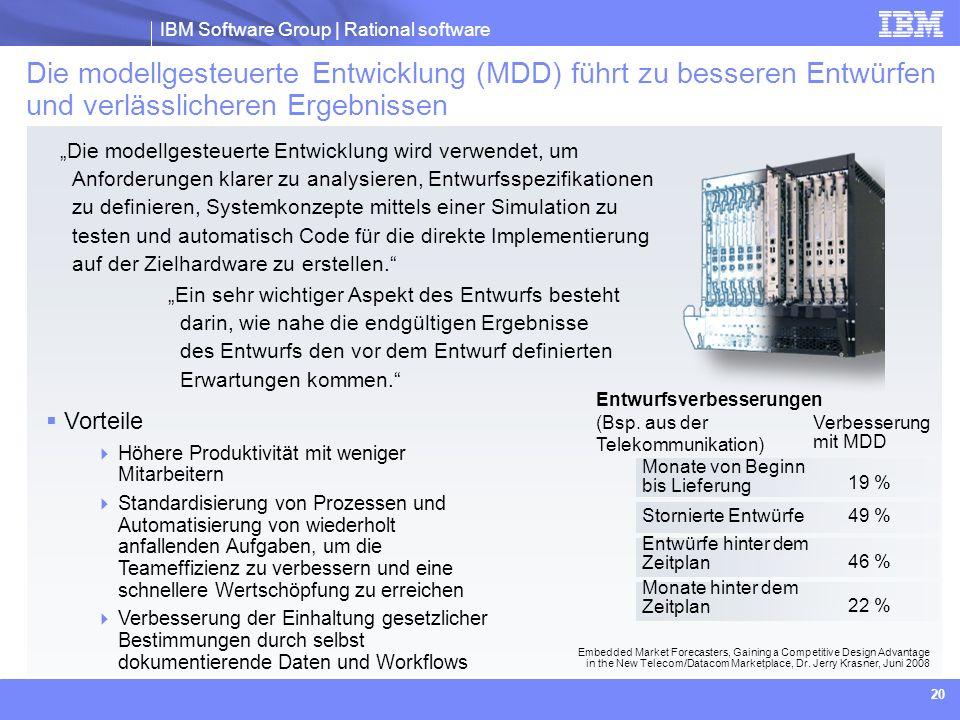 Die modellgesteuerte Entwicklung (MDD) führt zu besseren Entwürfen und verlässlicheren Ergebnissen