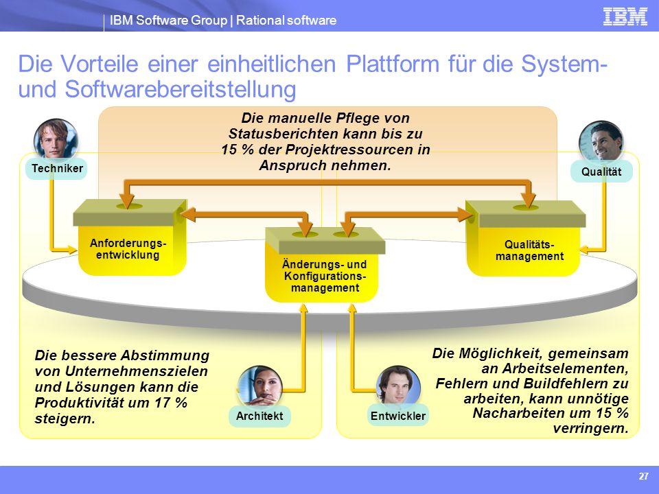 Qualitäts- management Änderungs- und Konfigurations-management