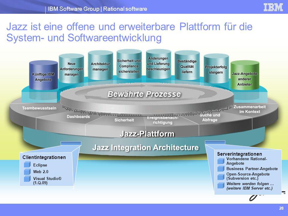 Jazz ist eine offene und erweiterbare Plattform für die System- und Softwareentwicklung