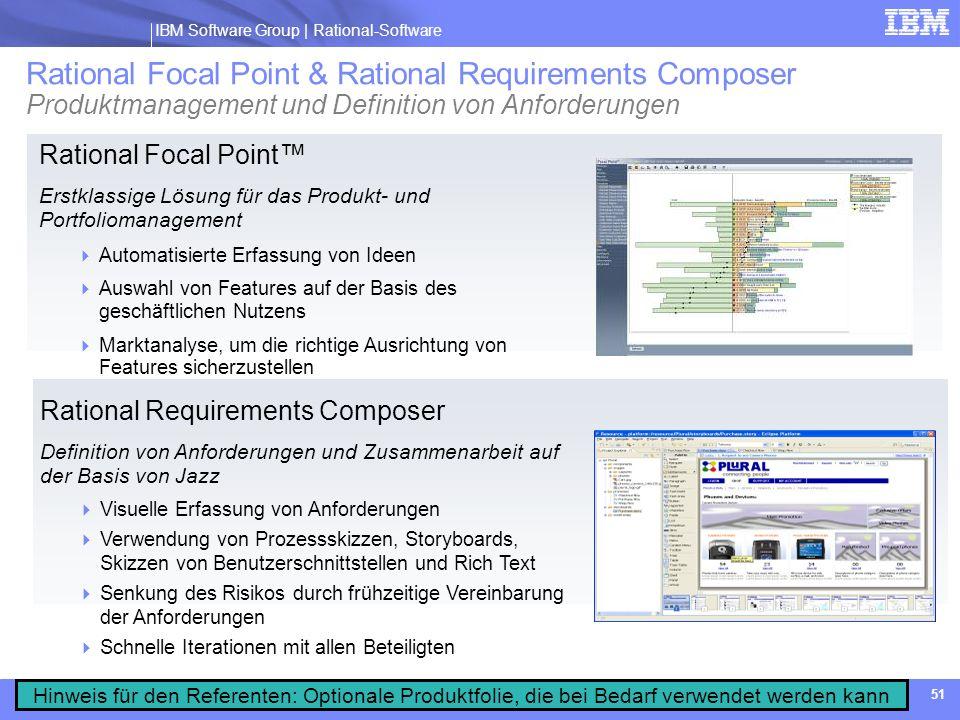 Rational Focal Point & Rational Requirements Composer Produktmanagement und Definition von Anforderungen