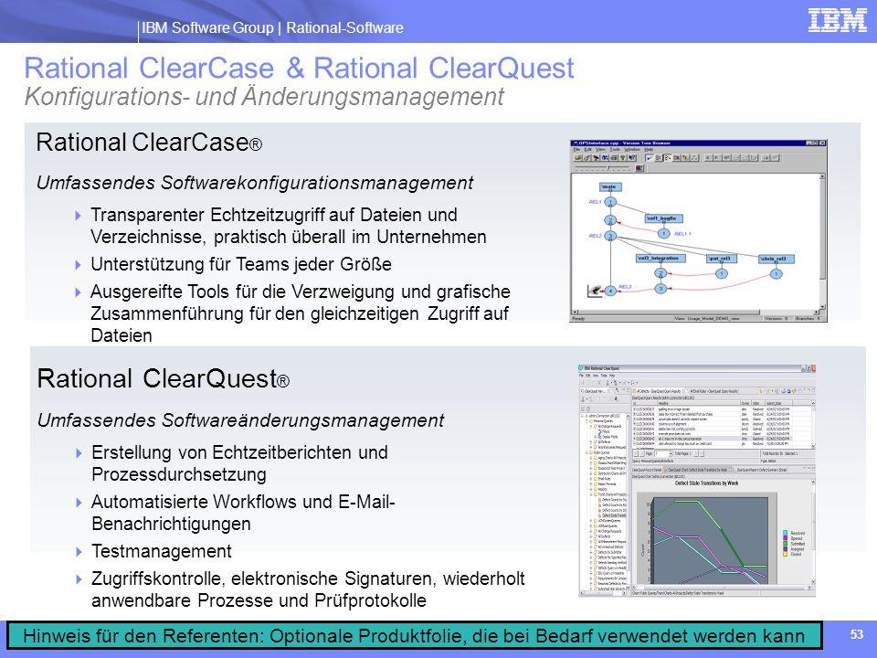 Rational ClearCase & Rational ClearQuest Konfigurations- und Änderungsmanagement