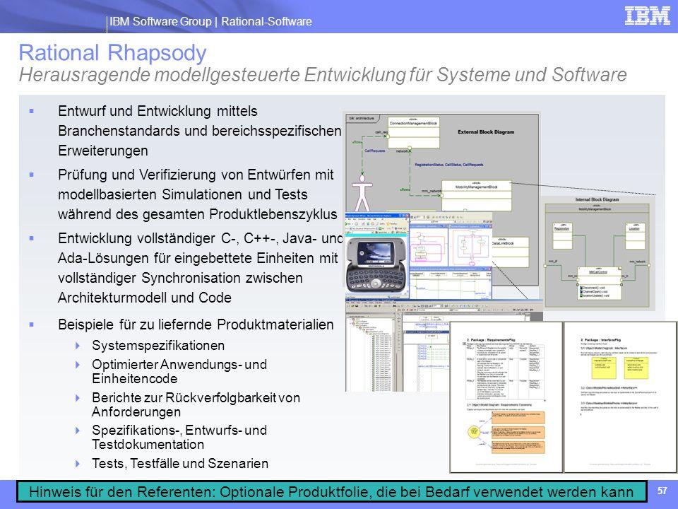 Rational Rhapsody Herausragende modellgesteuerte Entwicklung für Systeme und Software