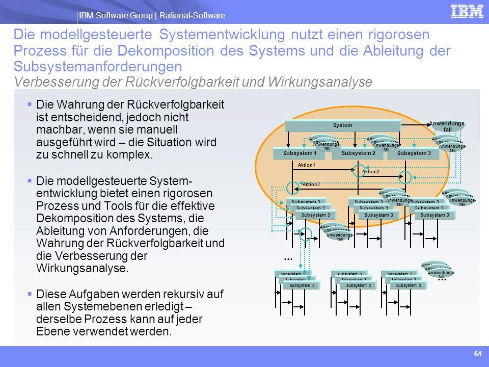 Die modellgesteuerte Systementwicklung nutzt einen rigorosen Prozess für die Dekomposition des Systems und die Ableitung der Subsystemanforderungen Verbesserung der Rückverfolgbarkeit und Wirkungsanalyse