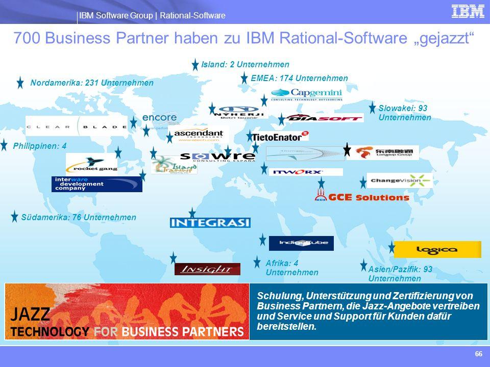 """700 Business Partner haben zu IBM Rational-Software """"gejazzt"""