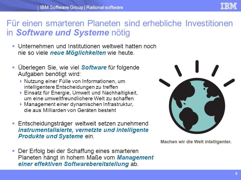 Für einen smarteren Planeten sind erhebliche Investitionen in Software und Systeme nötig
