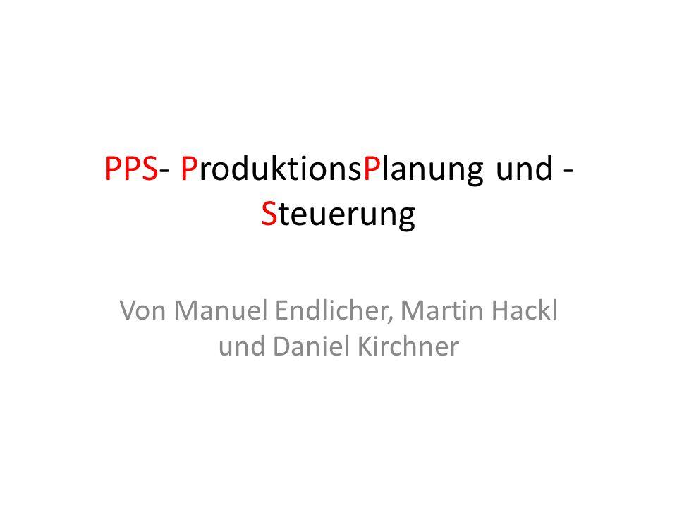PPS- ProduktionsPlanung und -Steuerung