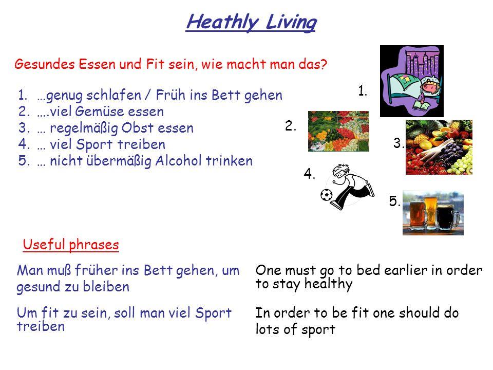 Heathly Living Gesundes Essen und Fit sein, wie macht man das 1.