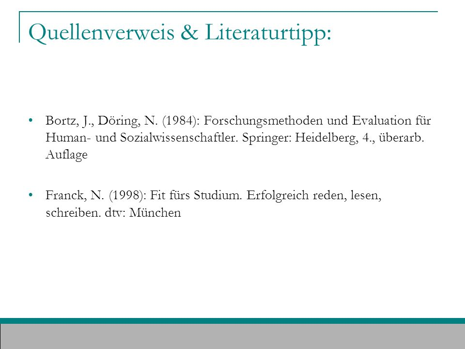 Quellenverweis & Literaturtipp: