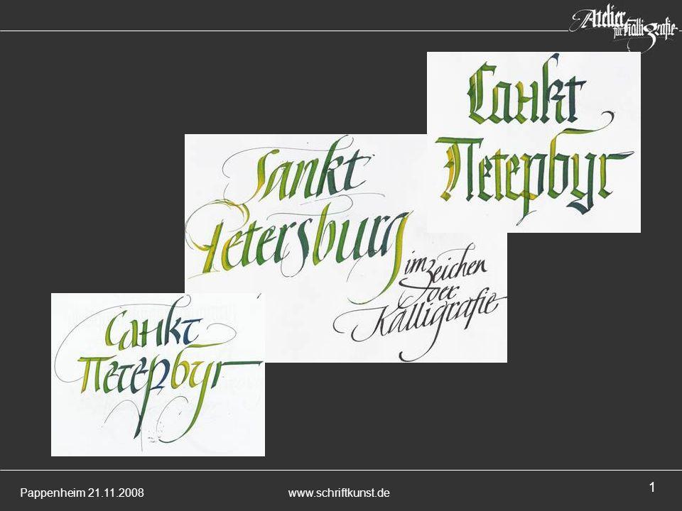 Begrüßung – Pappenheim, Regensburg, Petersburg – wie schreiben die Petersburger Petersburg