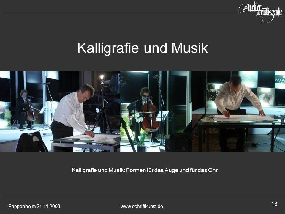 Kalligrafie und Musik: Formen für das Auge und für das Ohr