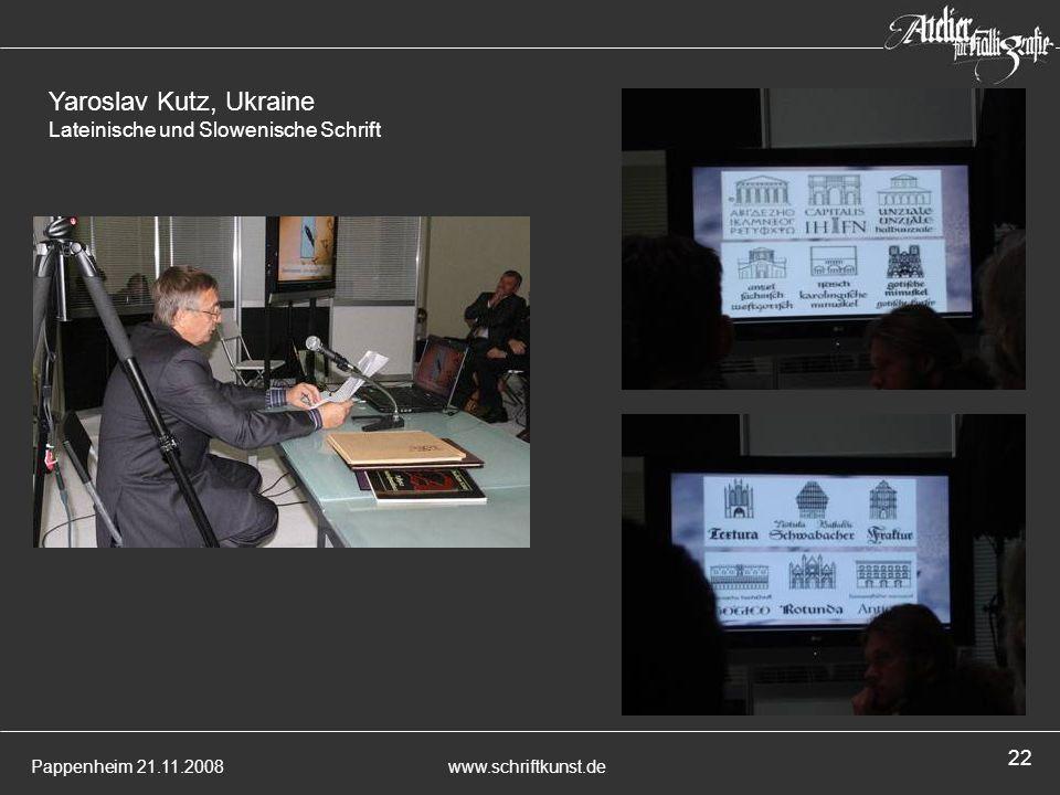 Yaroslav Kutz, Ukraine Lateinische und Slowenische Schrift