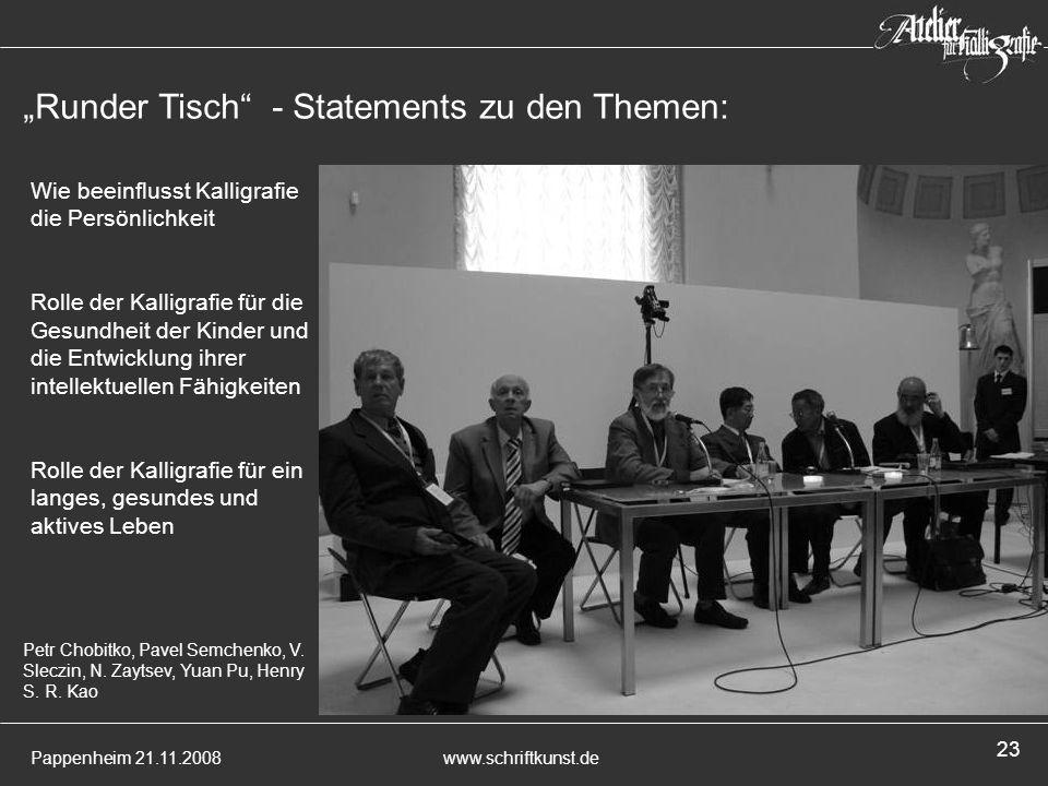 """""""Runder Tisch - Statements zu den Themen:"""