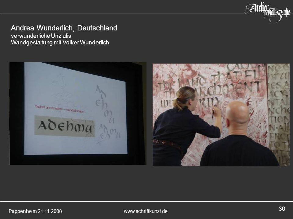 Andrea Wunderlich, Deutschland verwunderliche Unzialis Wandgestaltung mit Volker Wunderlich