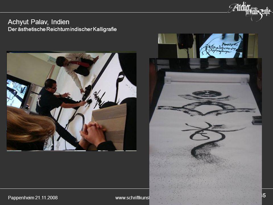 Achyut Palav, Indien Der ästhetische Reichtum indischer Kalligrafie
