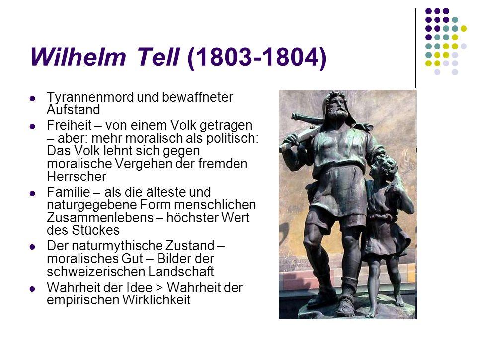 Wilhelm Tell (1803-1804) Tyrannenmord und bewaffneter Aufstand