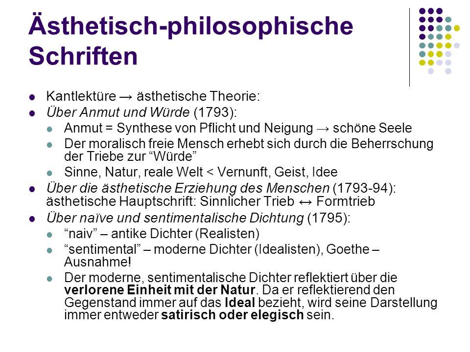 Ästhetisch-philosophische Schriften