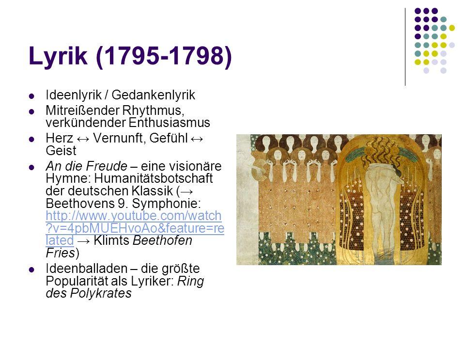 Lyrik (1795-1798) Ideenlyrik / Gedankenlyrik