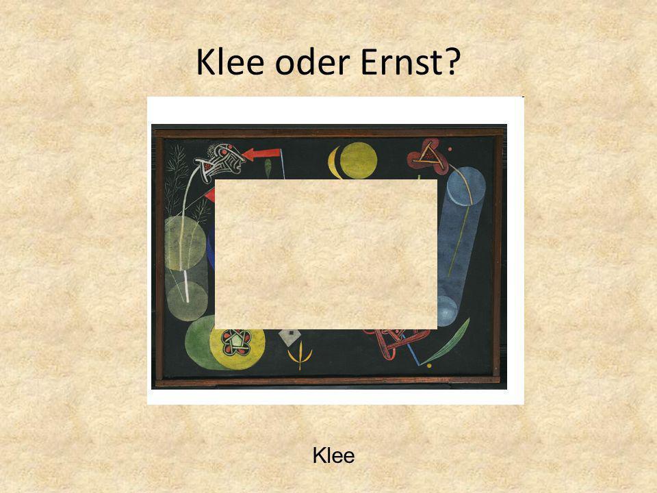 Klee oder Ernst Klee