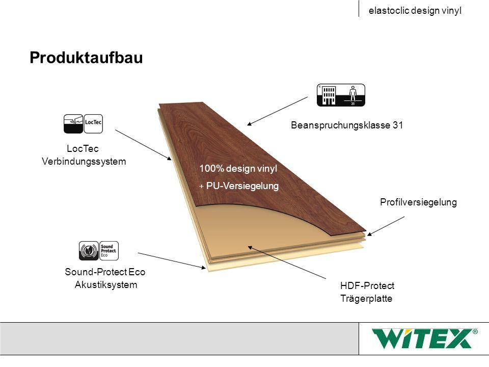 Produktaufbau elastoclic design vinyl Beanspruchungsklasse 31 LocTec