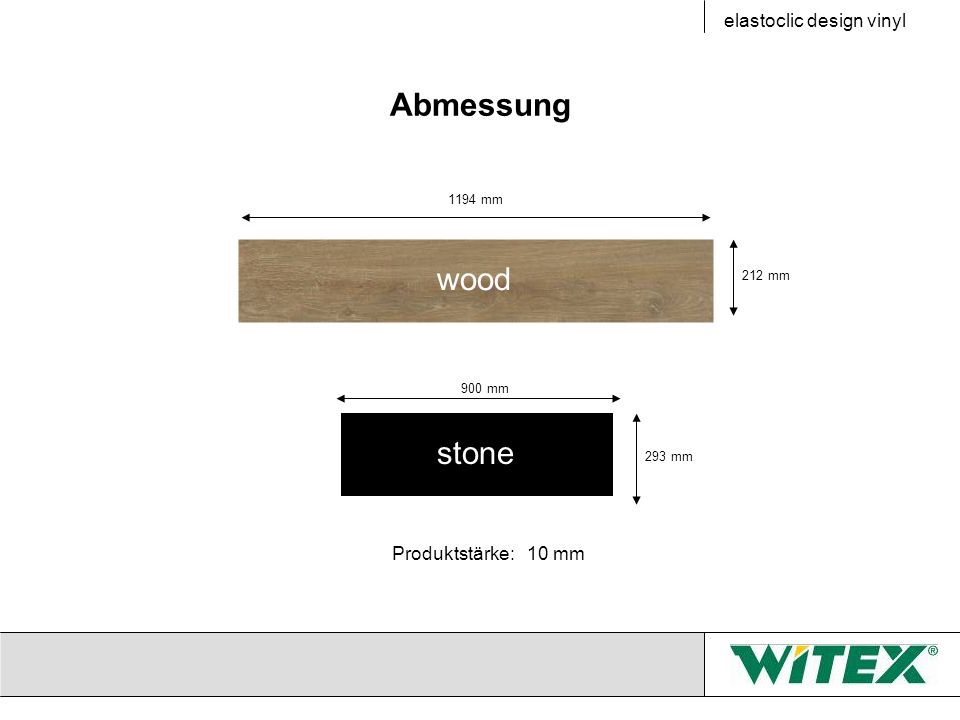 Abmessung wood stone elastoclic design vinyl Produktstärke: 10 mm