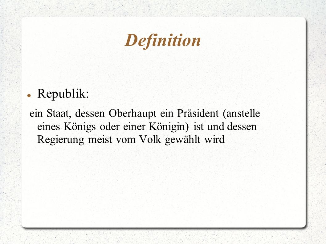 Definition Republik: