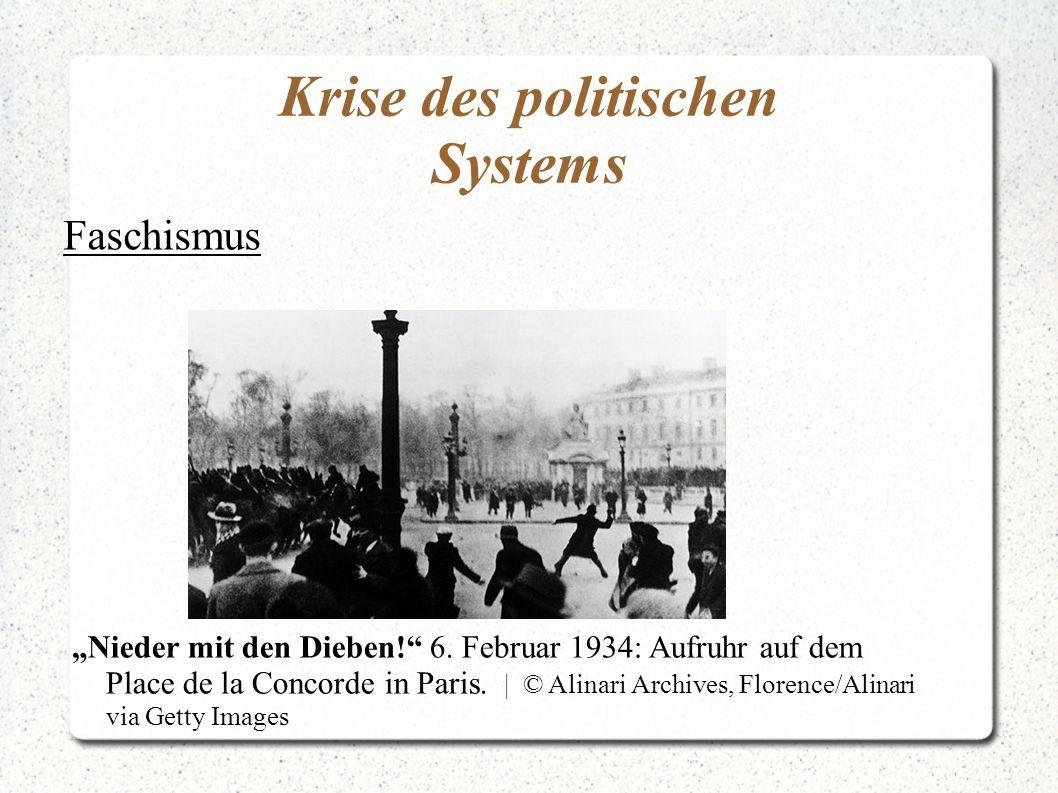 Krise des politischen Systems