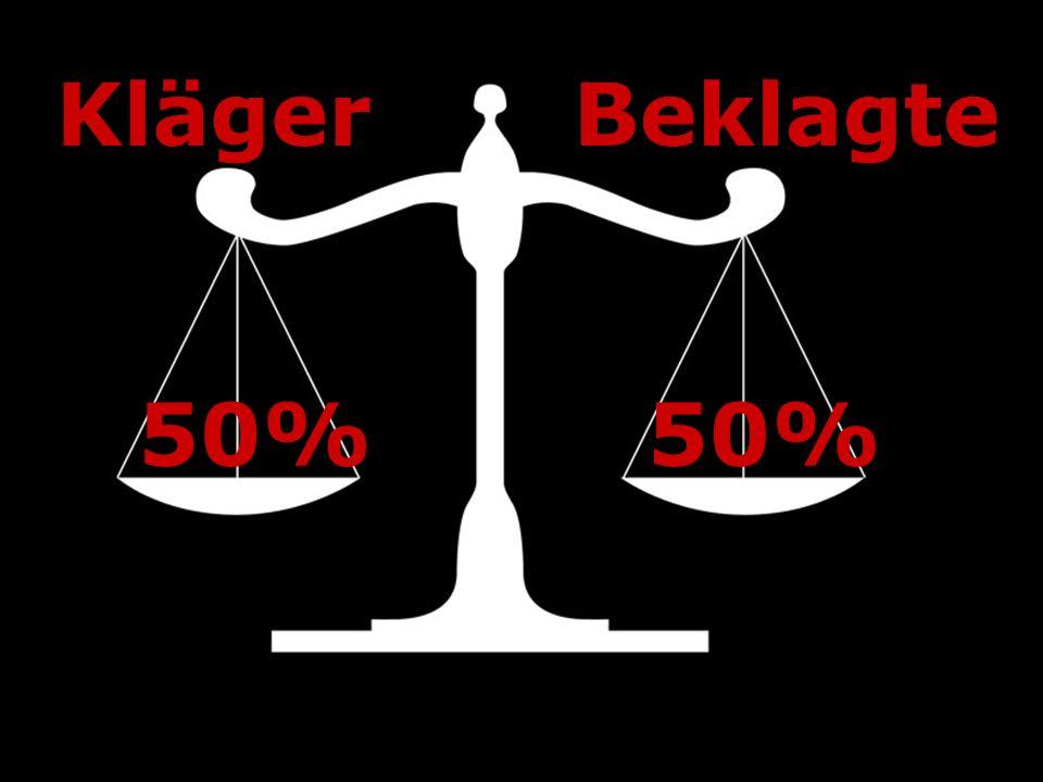 Kläger Beklagte 50% 50%