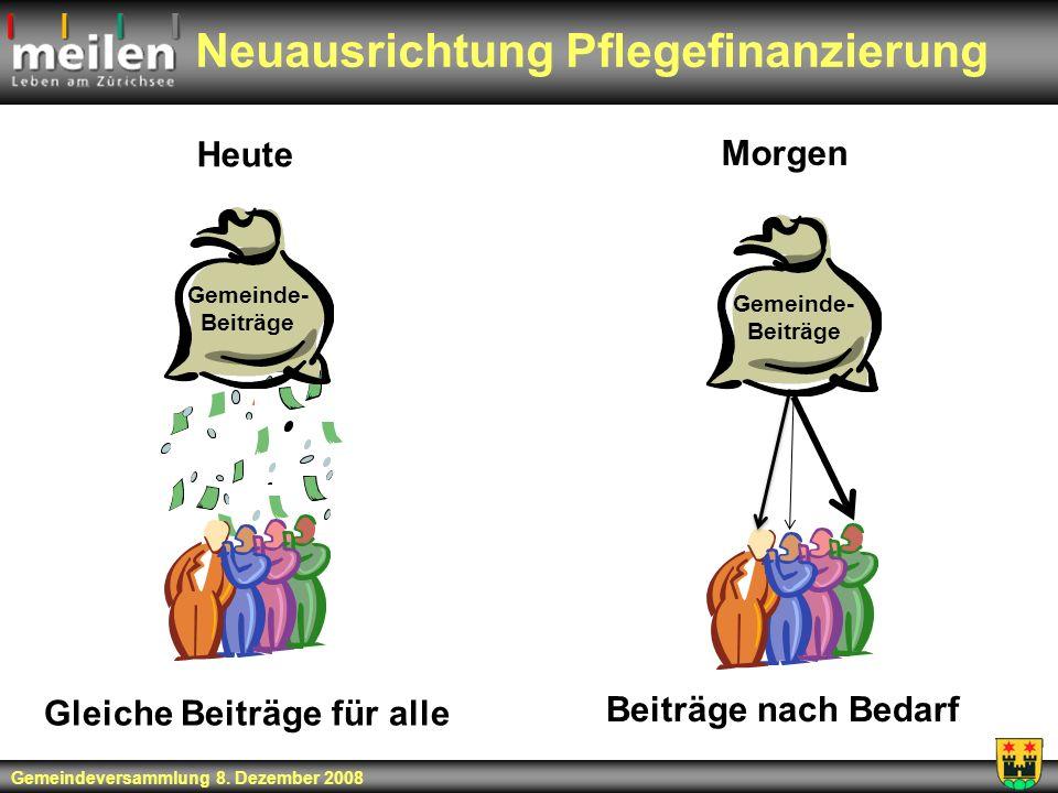 Neuausrichtung Pflegefinanzierung